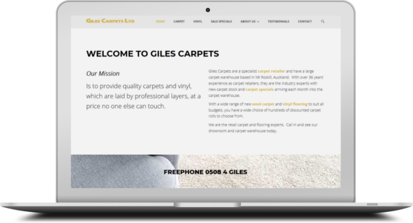 Giles Carpet Old Website